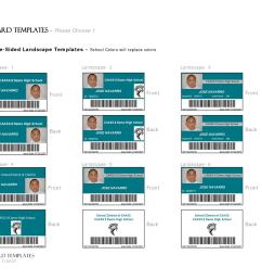 id card template word [ 1650 x 1275 Pixel ]