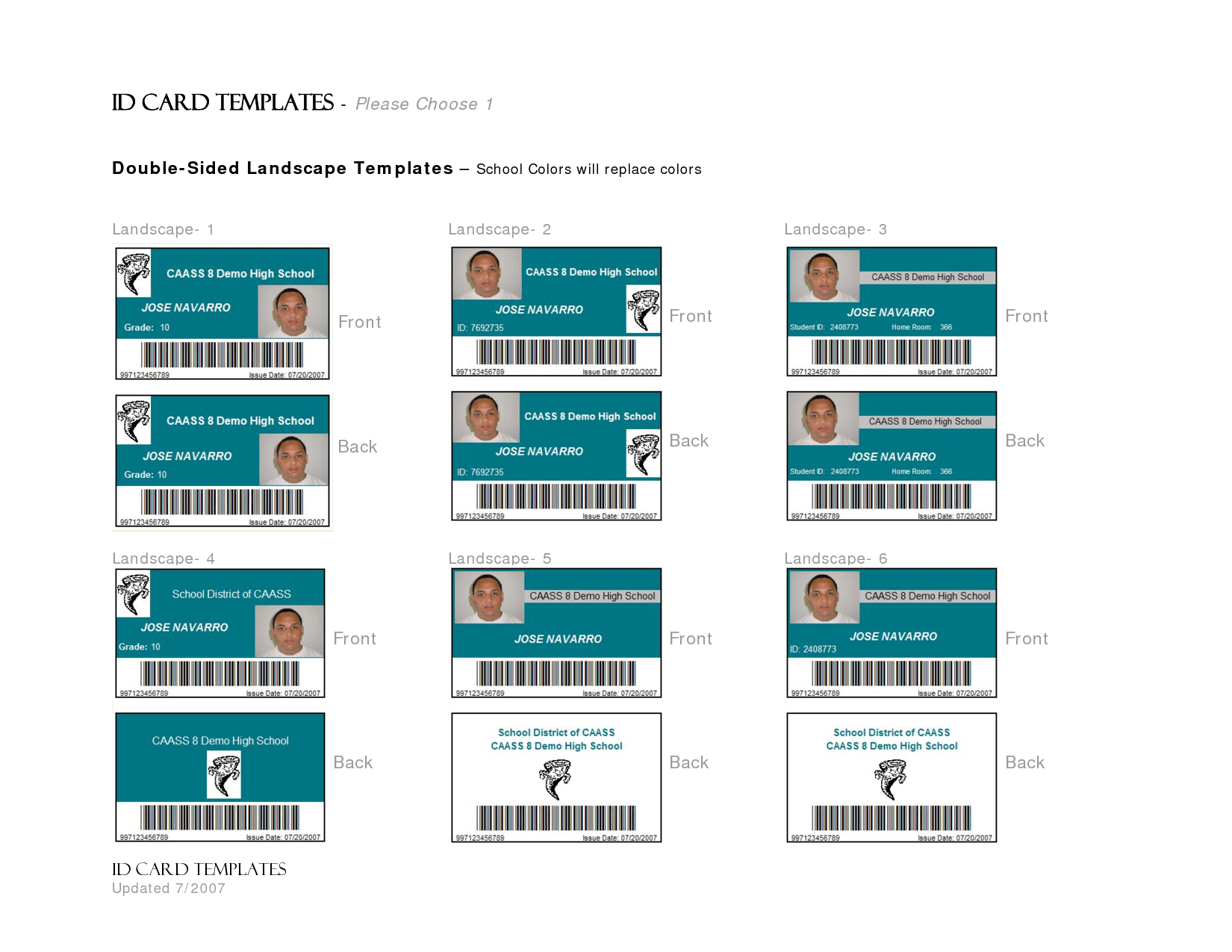 hight resolution of id card template word