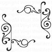 13 Elegant Corner Designs Images - Victorian Corner Border ...
