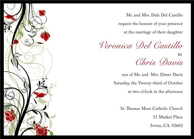 Doc570441 Free Printable Wedding Invitation Templates for Word – Free Printable Wedding Invitation Templates for Word