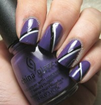 18 Purple And White Nail Designs Images - Purple Glitter ...