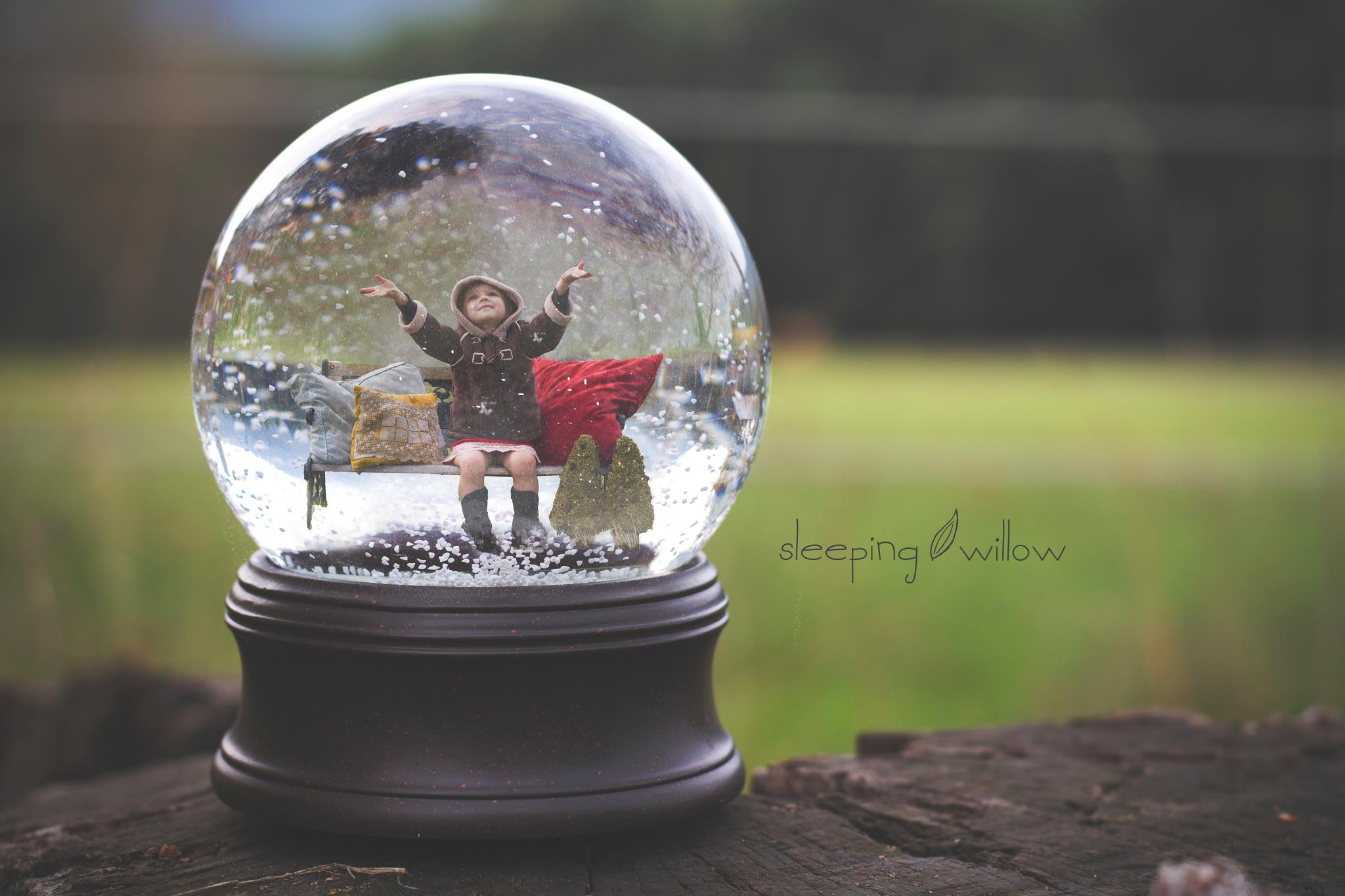 9 Christmas Snow Globe PSD Template Images Snow Globe