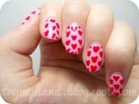 16 Heart Nail Designs Images - Cute Simple Nail Art Heart ...