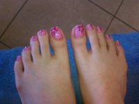11 Hawaiian Flower Toe Nail Design Images - Hawaiian ...