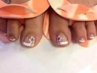 11 Hawaiian Flower Toe Nail Design Images - Hawaiian ...