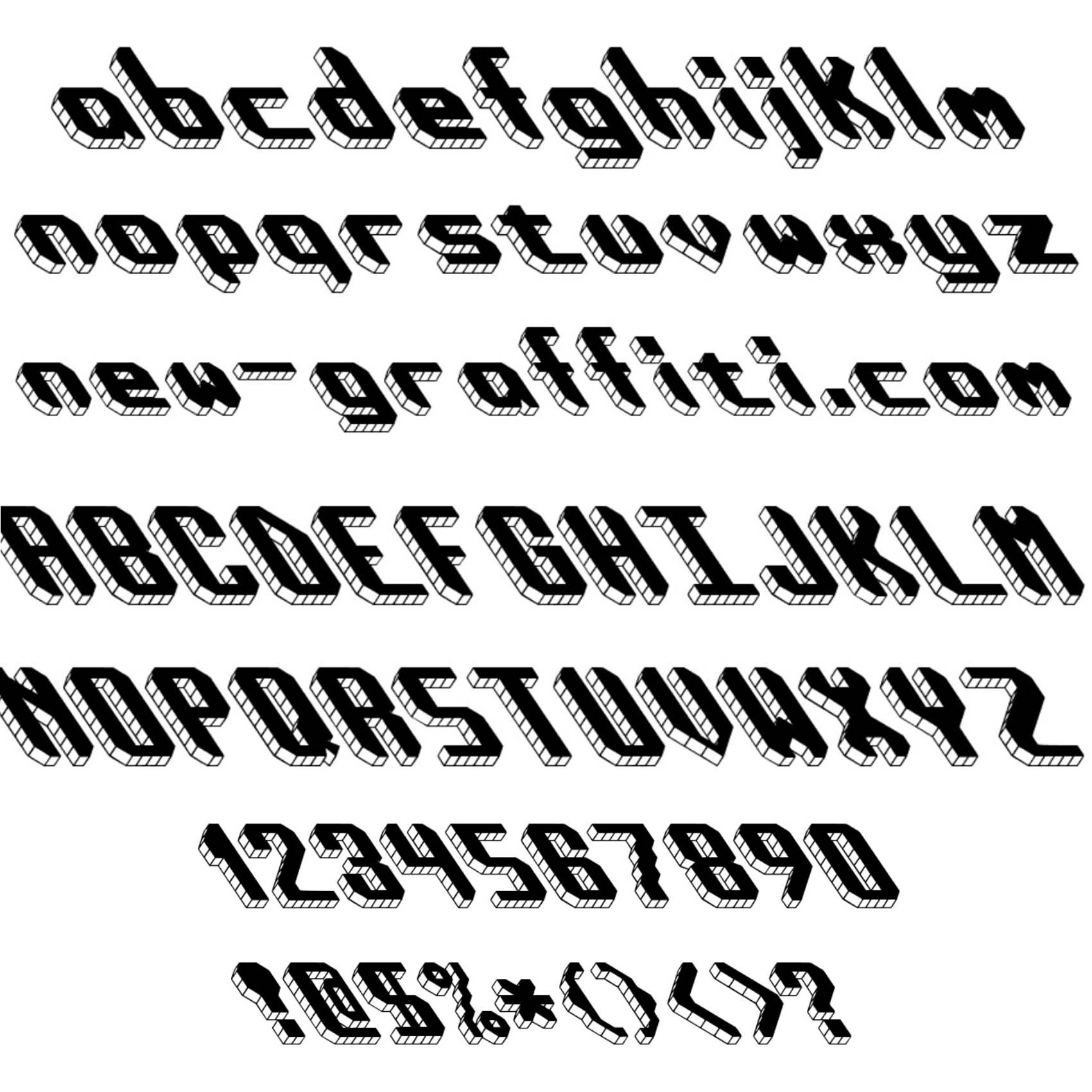 15 3d Graffiti Number Fonts Images