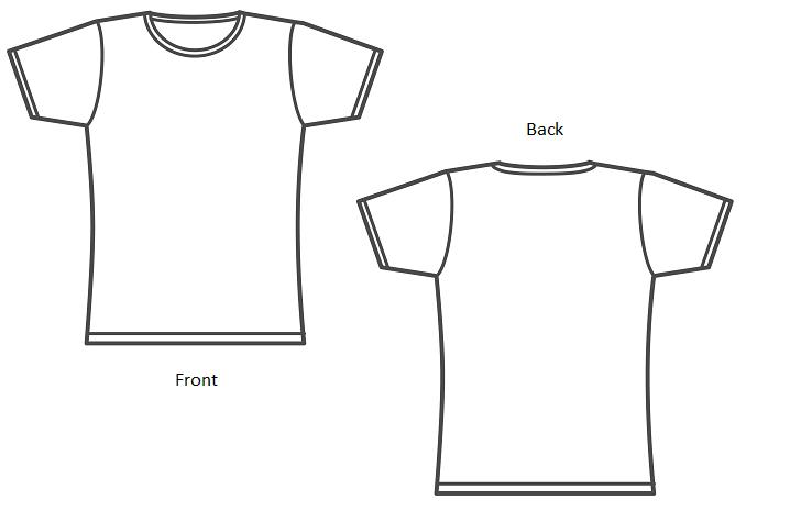 Shirt Outline Front And Back Pictures to Pin on Pinterest