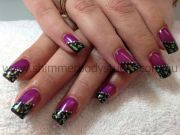 8 purple gel nail design