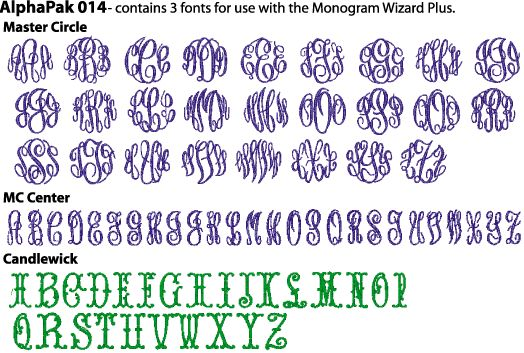 master circle monogram font