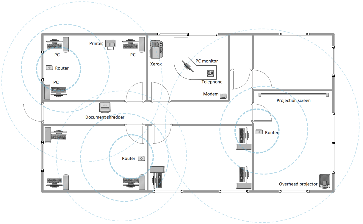 hight resolution of office building layout plan