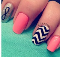 16 Peach Nail Color Designs Images - Peach Color Nail ...