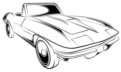 C6 Corvette Coloring Pages