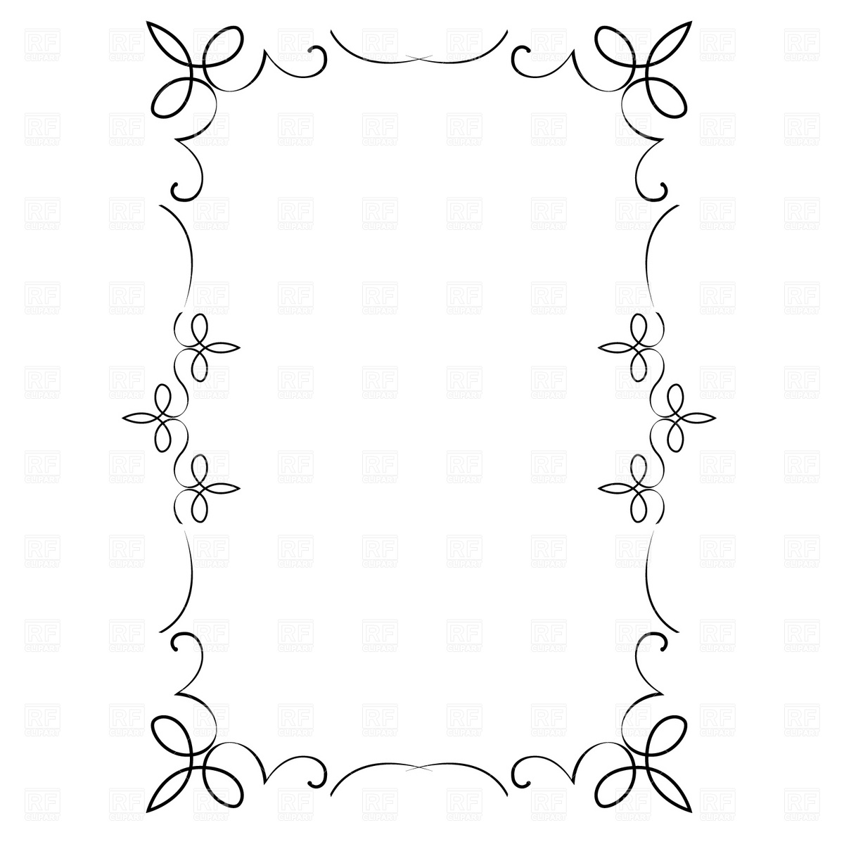 hight resolution of free vector decorative frame borders