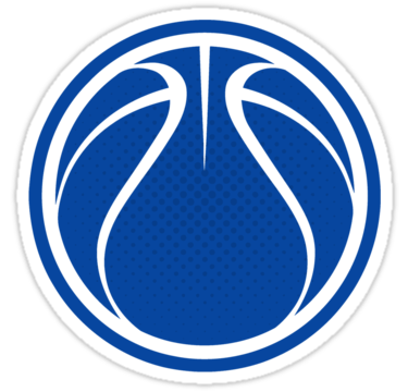 14 blue basketball graphic