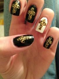 13 Cute Cross Nail Designs Images - Acrylic Nail Designs ...