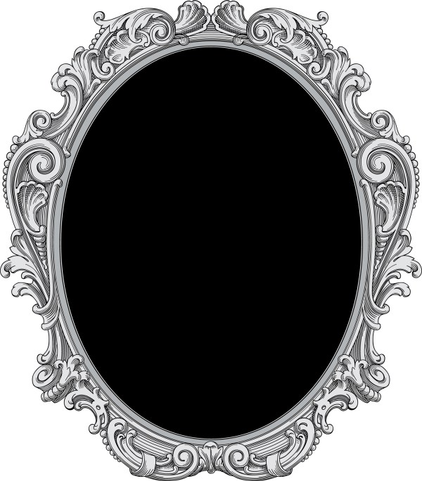 Oval Gothic Frames and Borders