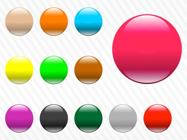 17 Free Glossy Button Templates PNG Images Glossy Icons