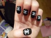 chanel nail design