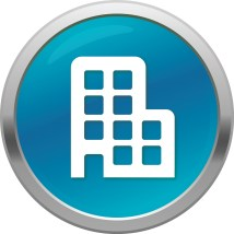 9 Hotel Building Icon - Office Black