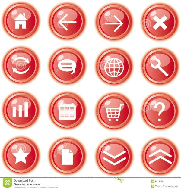 8 Red Web Icon Images Red Web Button Free Website Icons