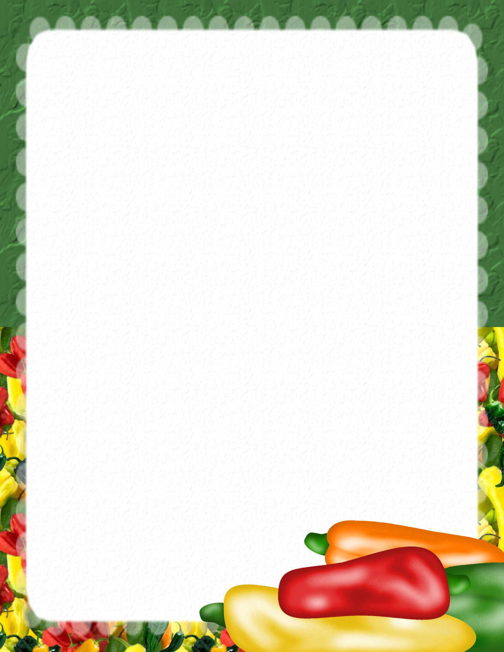 14 Food Paper Border Designs Images