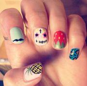creative diy nail design