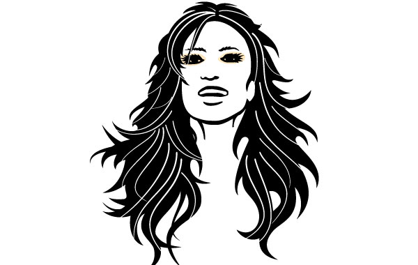 15 Black Hair Vector Art Images Black Curly Hair Vector