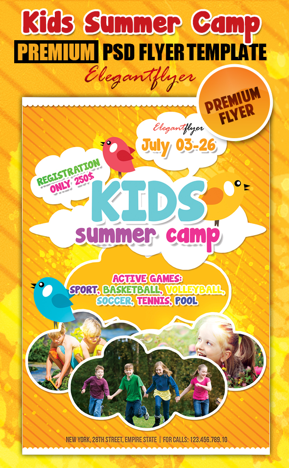 Summer Camp Flyer Free Template Traveltourswall