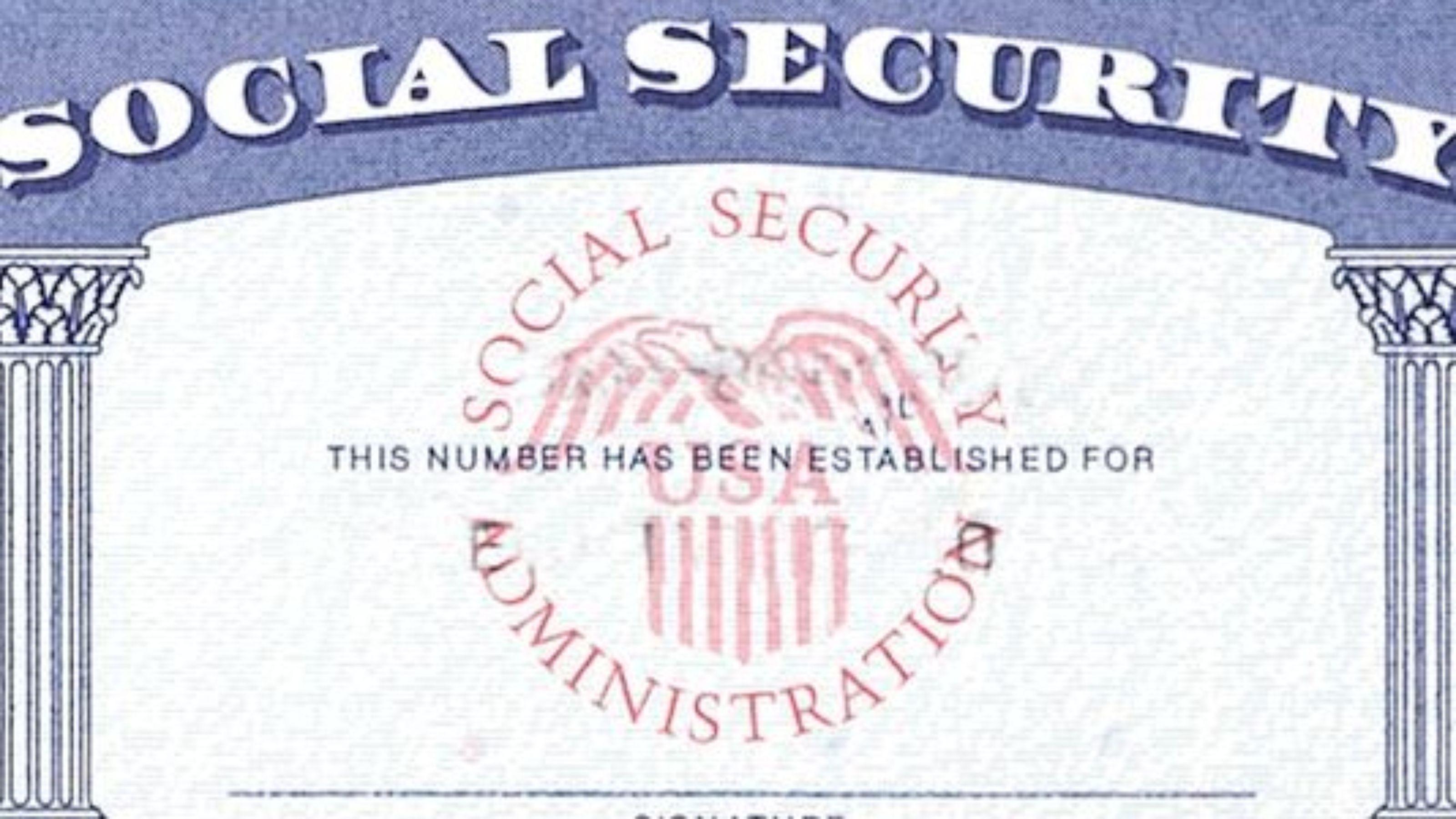 Card Social Sample Security Blank