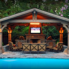 Outdoor Kitchen Pavilion Designs Frigidaire Appliances Reviews 13 Pool Images - Backyard ...