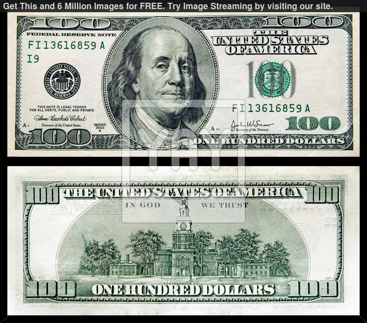 12 100 Dollar Bill Psd Images