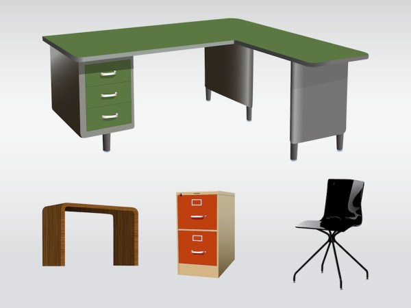 office furniture clip art cliparts