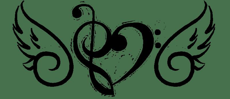 Heart Music Note Tattoo Designs