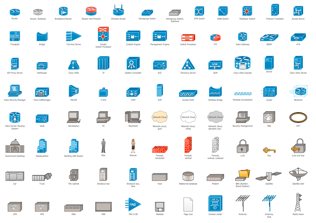 10 network topology icons