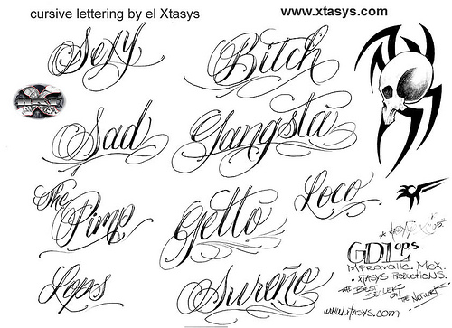 Gangster Tattoo Fonts