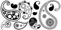 15 Paisley Swirl Designs Clip Art Images - Purple Swirl ...