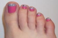 14 White Toe Nail Polish Designs Images - And White Black ...