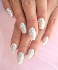 14 White And Rhinestone Nail Design Images - Nail Designs ...