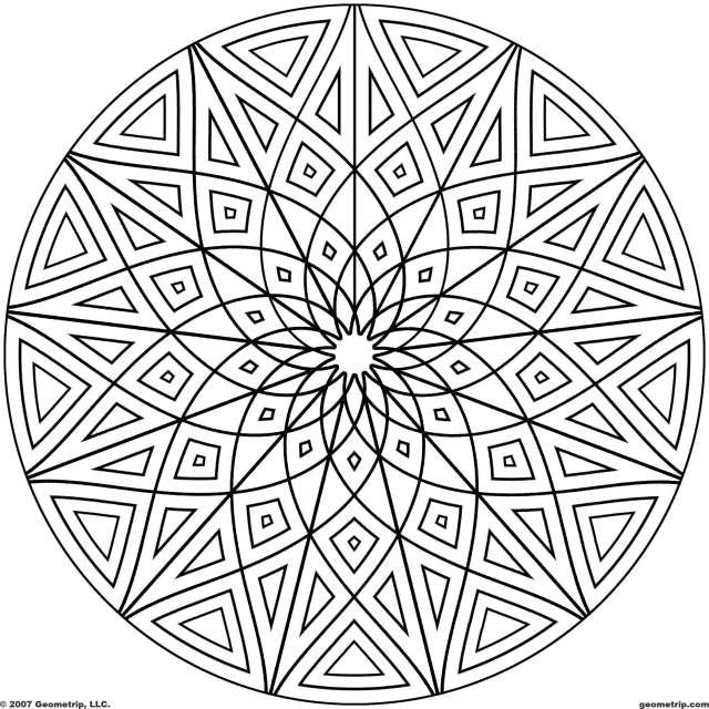 28 Free Geometric Designs Images - Cool Geometric Designs Coloring