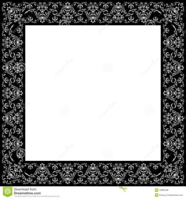 Black Vintage Frame Borders