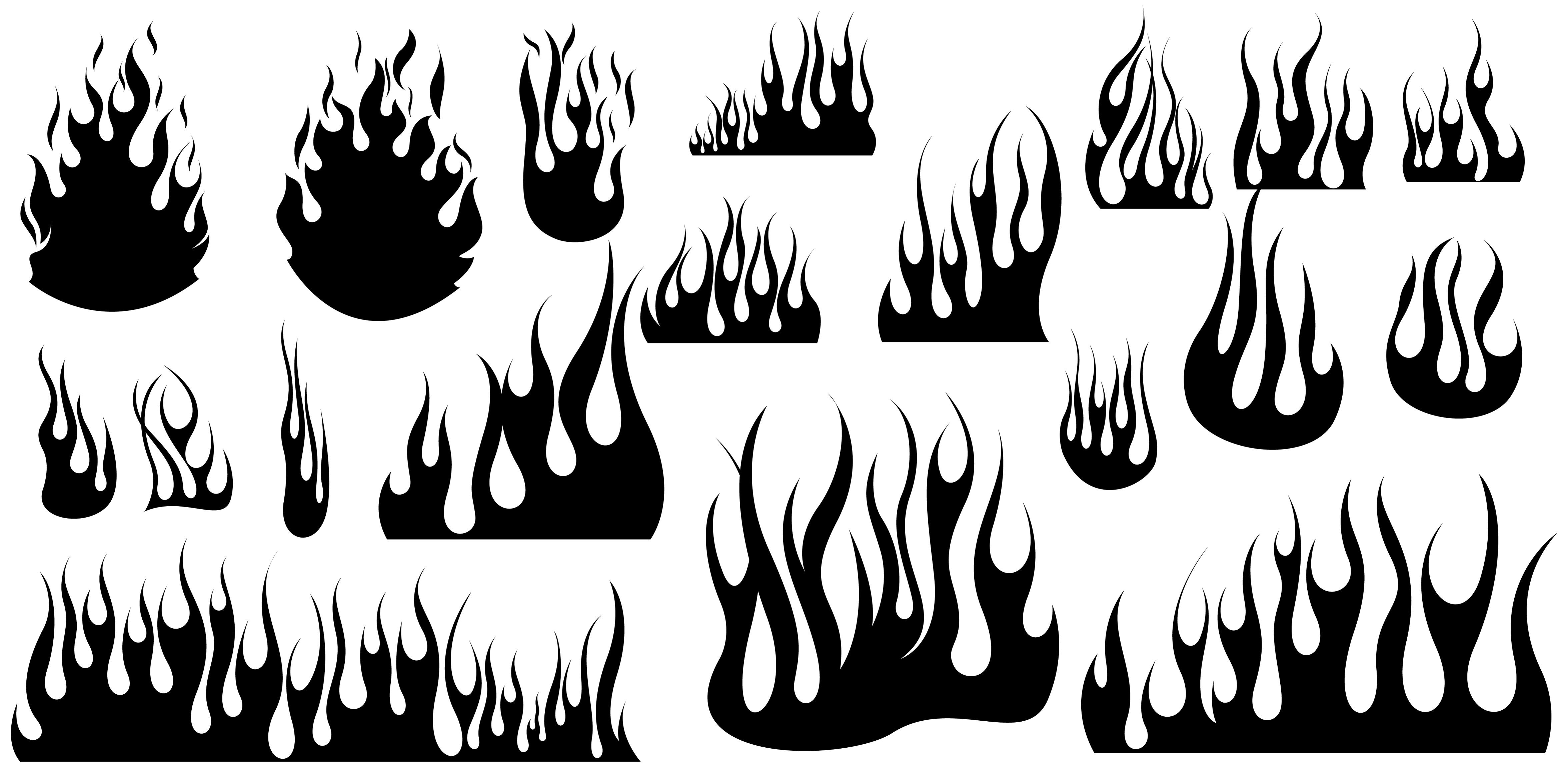 5 Vector Flames Black Images