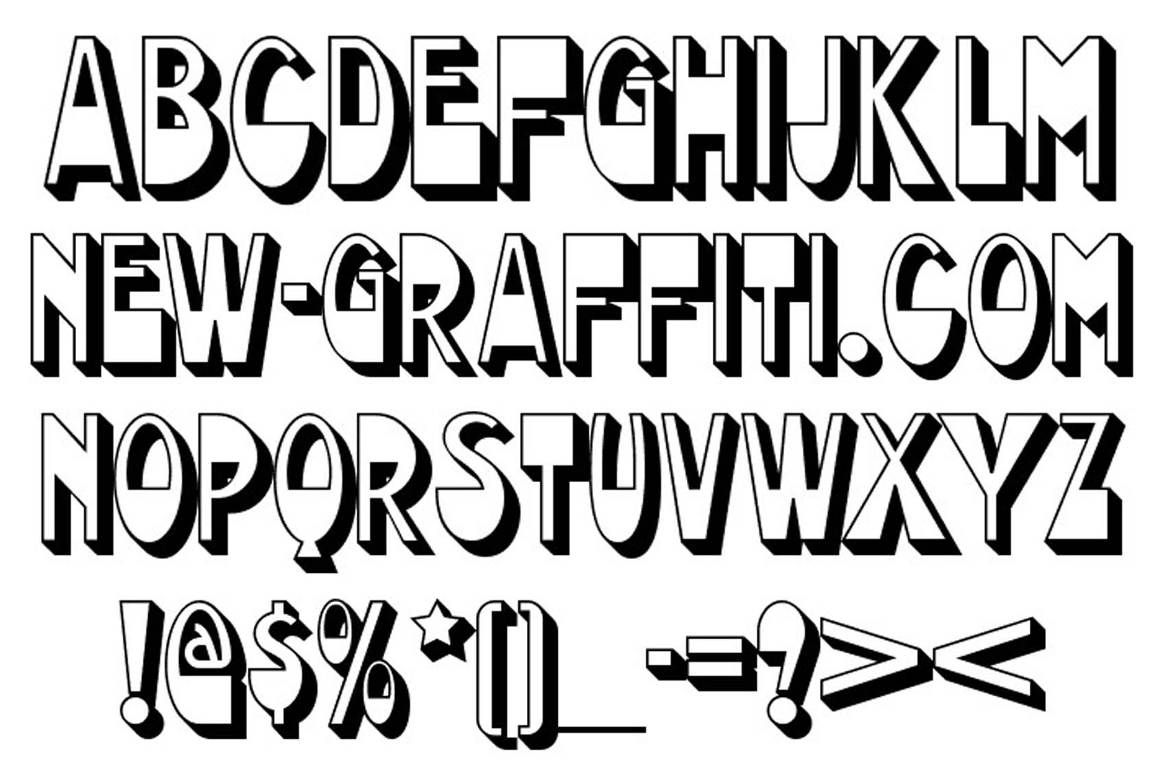 16 Types Of Graffiti Fonts Images Different Types Of