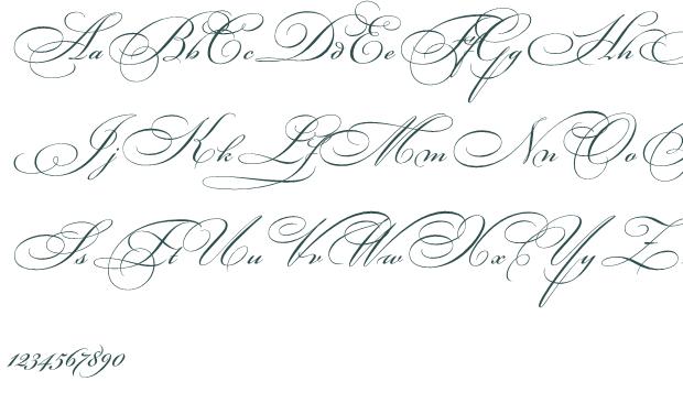 Fancy Cursive Fonts Milas