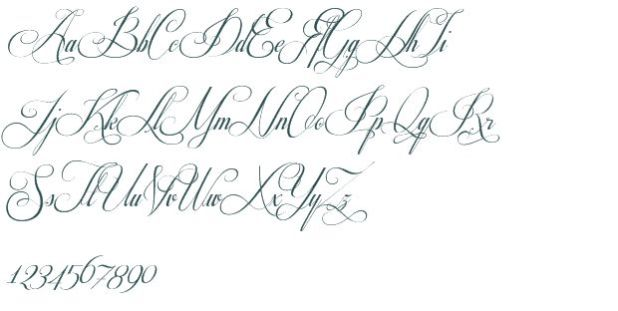 Fancy Cursive Fonts Images Tattoo