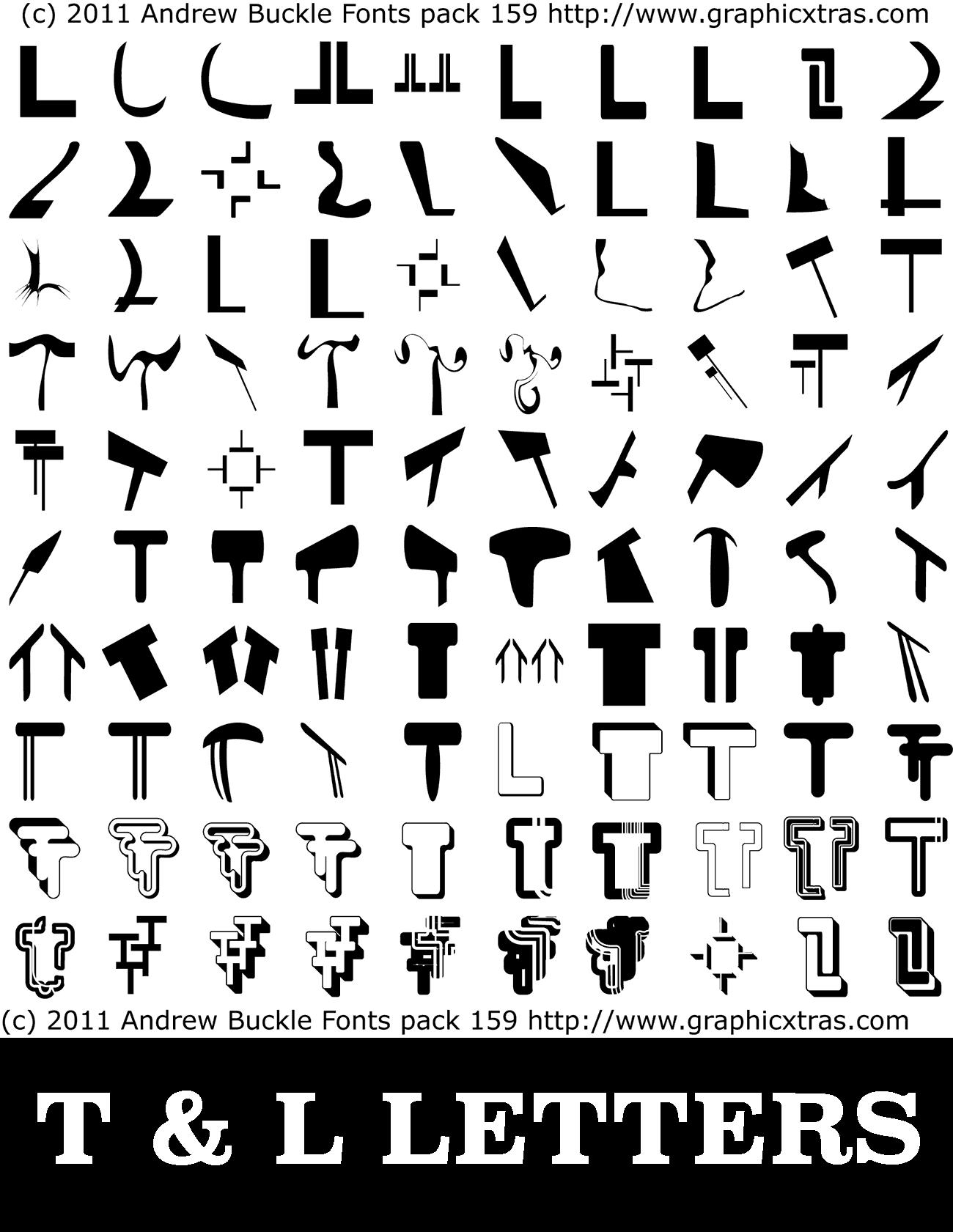 Cool Letter Designs T
