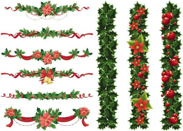 christmas psd garland border