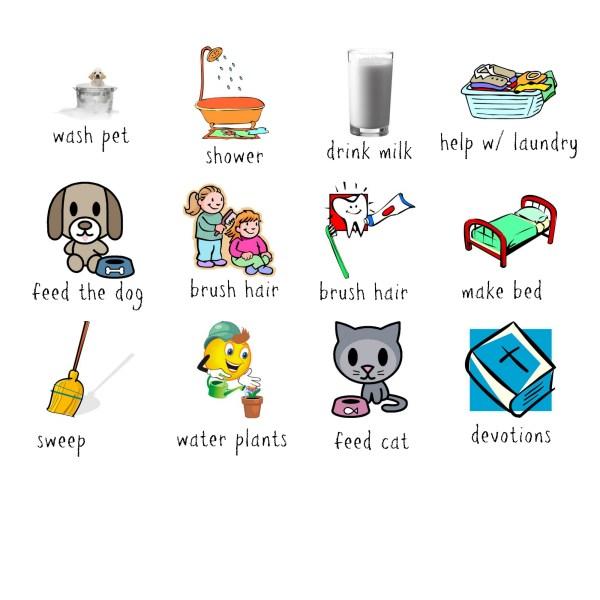 job chart icons - preschool