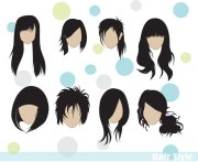long hair vector psd