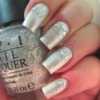 13 Silver Glitter Nail Designs Images