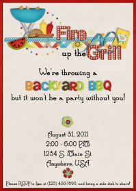 16 Free Printable Cookout Invitations Template Images ...